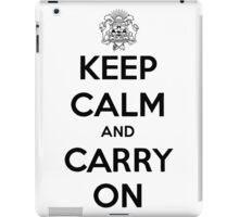 Keep Calm Carry On Calgary Black iPad Case/Skin
