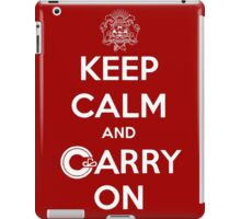 Keep Calm Carry On Calgary White iPad Case/Skin