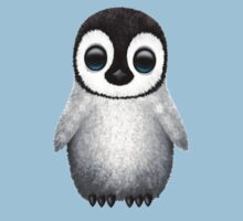 Cute Baby Penguin on Pink Kids Clothes