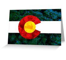 Colorado Chronic Flag Greeting Card