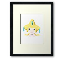 Jirachi Pokemon Simple No Borders Framed Print