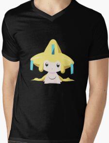 Jirachi Pokemon Simple No Borders Mens V-Neck T-Shirt