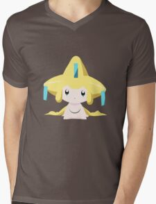 Jirachi Pokemon Simple No Borders Mens V-Neck T-Shirt