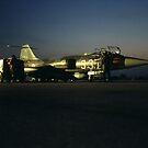 F194 STARFIGHTER BY NIGHT. by giuseppe maffioli