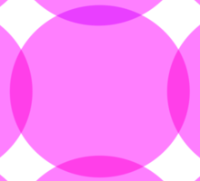 Pink and Purple Circles Sticker