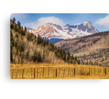 Through The Valley Up the Mountain Canvas Print