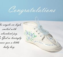 Baby Boy Shoe by June Holbrook