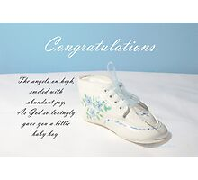Baby Boy Shoe Photographic Print