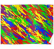 Rainbow Camouflage Poster