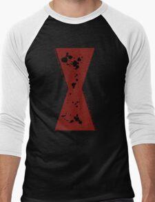 Red in my Ledger v2 Men's Baseball ¾ T-Shirt