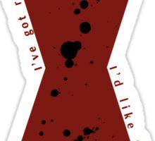 Red in my Ledger v2 Sticker