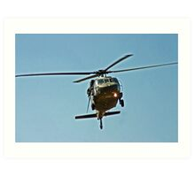 HELICOPTER FLYOVER Art Print
