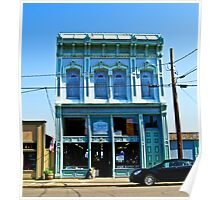 shopfront in blue Poster