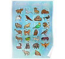 Extinct Animals ABCs Poster