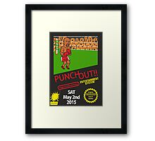 Floyd Mayweather Nintendo Punch out parody !!! Framed Print