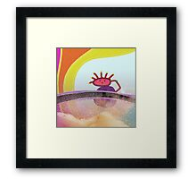 Somewhere over the rainbow, abstract modern gifts & decor Framed Print