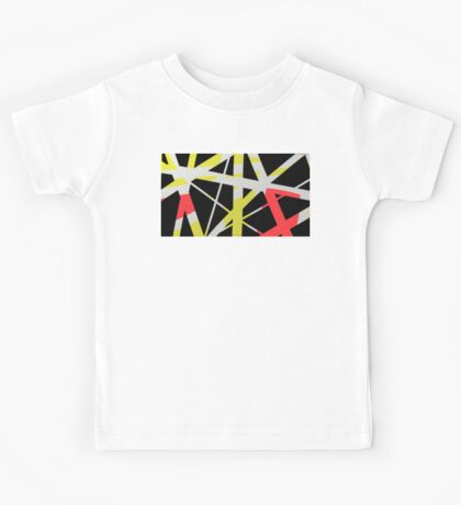 Red, yellow, black abstract gifts & decor Kids Tee