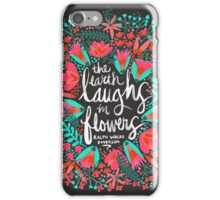 The Earth Laughs in Flowers – Pink & Charcoal iPhone Case/Skin