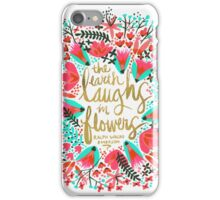 The Earth Laughs in Flowers – Pink & Gold iPhone Case/Skin