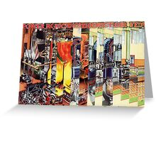 The Factory Worker. Greeting Card