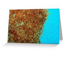 Cracked Blue Encroachment Greeting Card