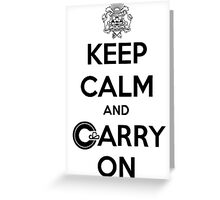 Keep Calm Carry On Calgary Black Greeting Card