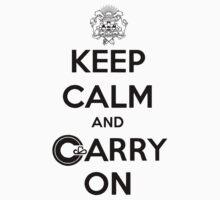 Keep Calm Carry On Calgary Black by Morgan Booker