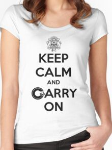 Keep Calm Carry On Calgary Black Women's Fitted Scoop T-Shirt