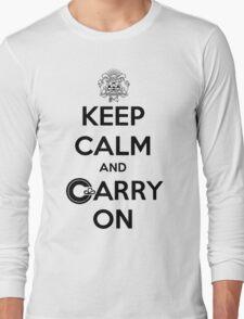 Keep Calm Carry On Calgary Black Long Sleeve T-Shirt