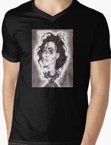 Victorian Gothic Dark Caricature Drawing T-Shirt