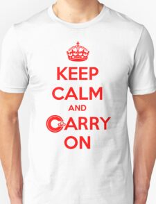 Keep Calm Carry On Calgary Red Unisex T-Shirt