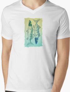 Fish Duo Mens V-Neck T-Shirt