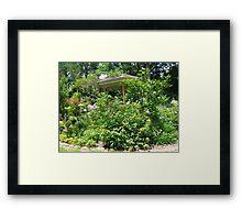 Gazebo at June's Garden, Bayou George, FL Framed Print