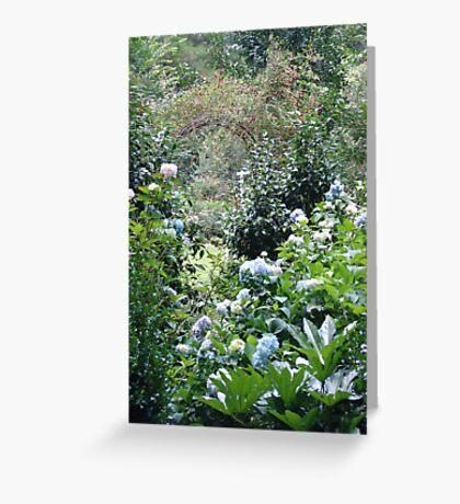 Hydrangea path - June's Garden Greeting Card