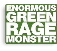 Enormous Green Rage Monster Canvas Print