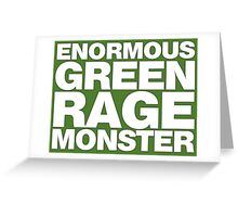 Enormous Green Rage Monster Greeting Card