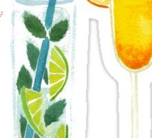 Summer Cocktail Trio Sticker
