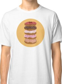 Donuts Stacked on Yellow Classic T-Shirt