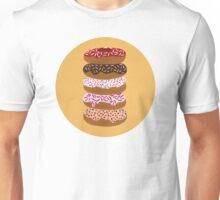 Donuts Stacked on Yellow Unisex T-Shirt
