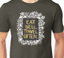 Eat Well, Travel Often – Kraft Unisex T-Shirt