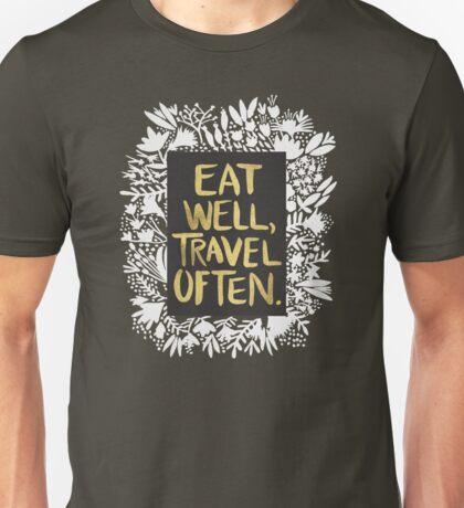 Eat Well, Travel Often – Kraft Unisex T-Shirt