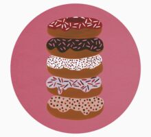 Donuts Stacked on Cherry T-Shirt