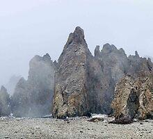 Misty Mountain Rocks by NielsEric