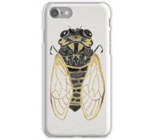 Cicada – Black & Gold iPhone Case/Skin