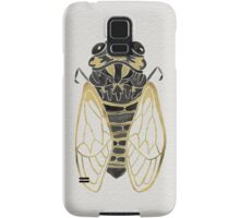 Cicada – Black & Gold Samsung Galaxy Case/Skin