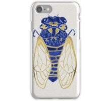 Cicada – Navy & Gold iPhone Case/Skin