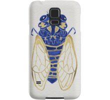 Cicada – Navy & Gold Samsung Galaxy Case/Skin