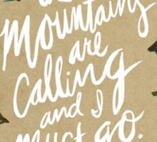 Mountains Calling – Kraft Sticker