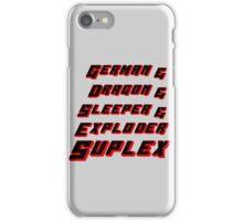 Suplex Variations T - Shirt iPhone Case/Skin
