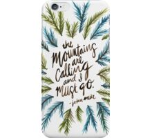 Mountains Calling iPhone Case/Skin